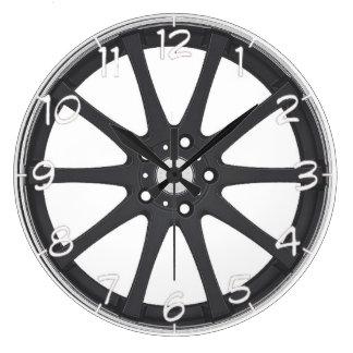 """Black car wheels"" design wall clocks"