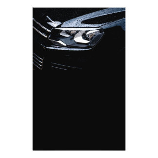 """Black car with the rain drops on it 5.5"""" x 8.5"""" flyer"""