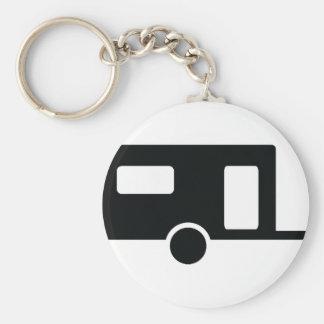 black caravan icon basic round button keychain