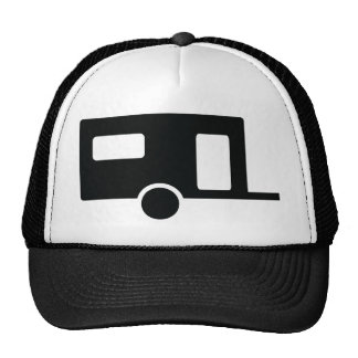 black caravan icon trucker hat