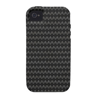 Black Carbon Fiber Alien Skin Case For The iPhone 4
