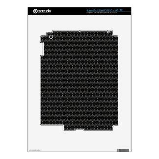Black Carbon Fiber Alien Skin Decal For iPad 3