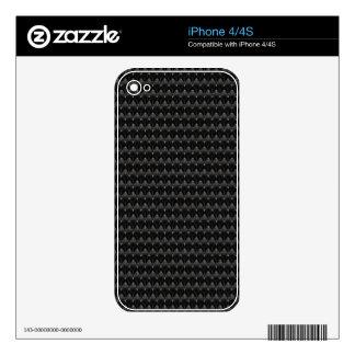 Black Carbon Fiber Alien Skin iPhone 4S Decals