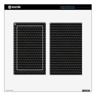 Black Carbon Fiber Alien Skin Kindle Fire Decals