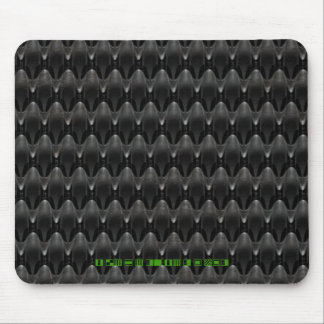 Black Carbon Fiber Alien Skin Mouse Pad