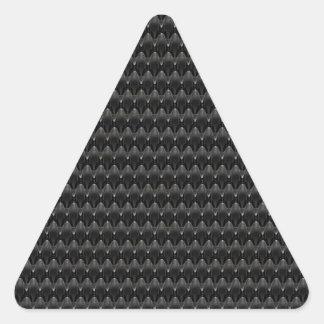 Black Carbon Fiber Alien Skin Triangle Sticker