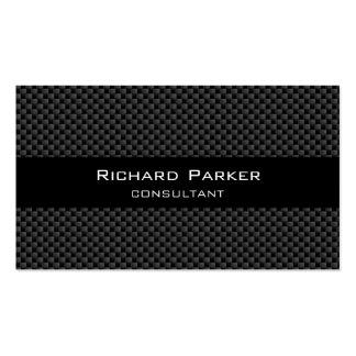 BLACK CARBON FIBER ELEGANT SIMPLE PROFESSIONAL BUSINESS CARD