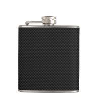 Black Carbon Fiber Print Flask