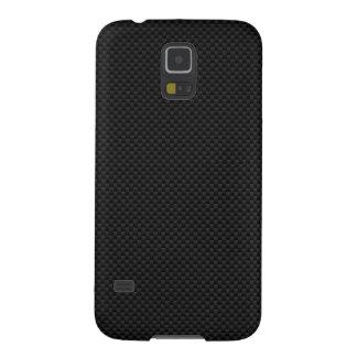 Black Carbon Fiber Print Galaxy S5 Case