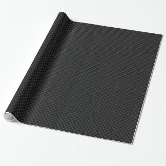 Black Carbon Fiber Print Wrapping Paper