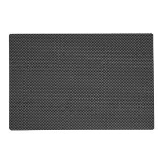Black Carbon Fiber Style Print Background Placemat