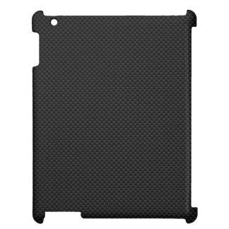 Black Carbon Fiber Style Print Case For The iPad 2 3 4
