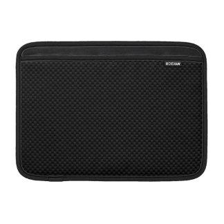 Black Carbon Fiber Style Print Decor MacBook Sleeve