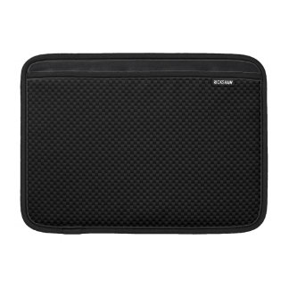 Black Carbon Fiber Style Print Decor Sleeve For MacBook Air