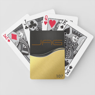 Black Carbon on Brushed Gold Playing Cards Bicycle Playing Cards