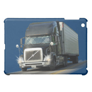 BLACK CARGO TRUCK BIG RIG TRUCKERS iPad Case