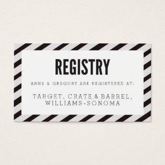 Black Carnival Stripes Registry Insert Card