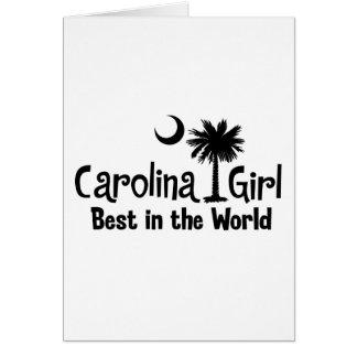 Black Carolina Girl Best in the World Card