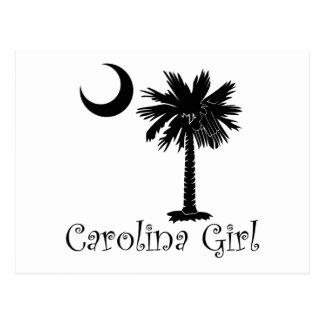 Black Carolina Girl Palmetto Postcard