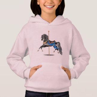 Black Carousel Horse Hoodie