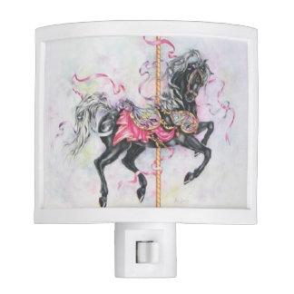 Black Carousel Horse Night Light