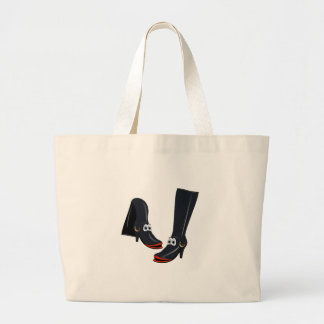 black cartoon boots bag