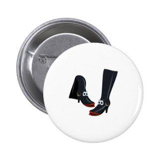 black cartoon boots button
