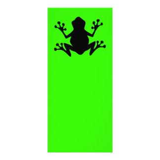 BLACK  CARTOON FROG leaping icon logo graphics Rack Card