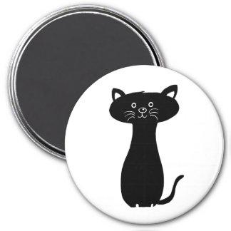Black Cartoon Kitty Magnet