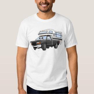 Black Cartoon Pick Up Camper T-shirt