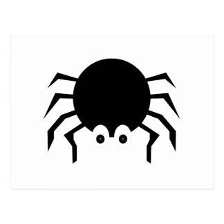 Black Cartoon Spider Post Cards