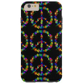 Black Case with Peace Symbol iPhone 6 Tough iPhone 6 Plus Case