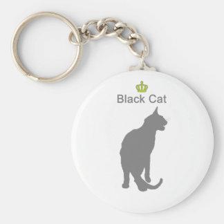Black Cat3 g5 Basic Round Button Keychain