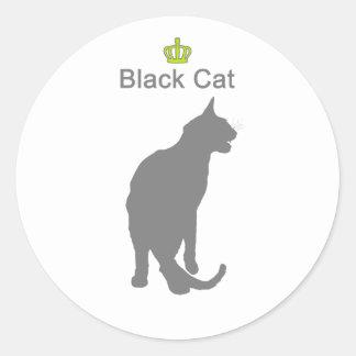 Black Cat3 g5 Classic Round Sticker