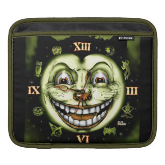 Black Cat 13 Clock Halloween iPad Sleeves