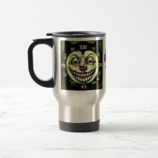 Black Cat 13 Clock Halloween Travel Mug