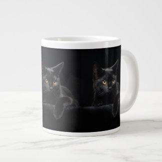 Black Cat 20 Oz Large Ceramic Coffee Mug
