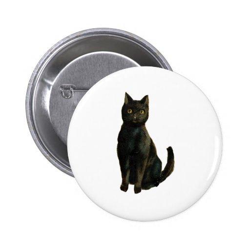 Black Cat 2 Inch Round Button