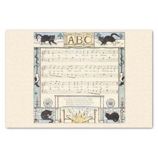 Black cat ABC nursery Tissue Paper