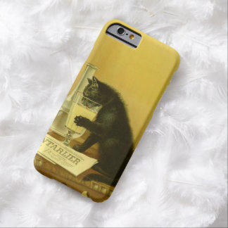 Black Cat Absinthe Bourgeois Art Nouveau Vintage Barely There iPhone 6 Case