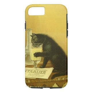 Black Cat Absinthe Bourgeois Art Nouveau Vintage iPhone 8/7 Case