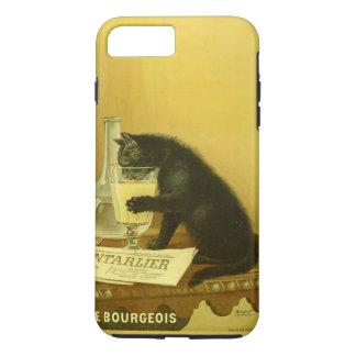Black Cat Absinthe Bourgeois Art Nouveau Vintage iPhone 8 Plus/7 Plus Case