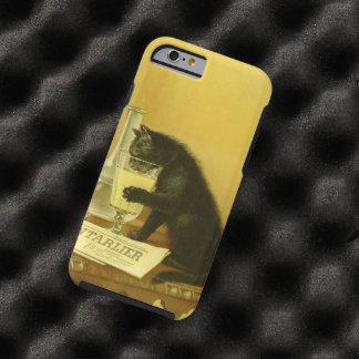 Black Cat Absinthe Bourgeois Art Nouveau Vintage Tough iPhone 6 Case
