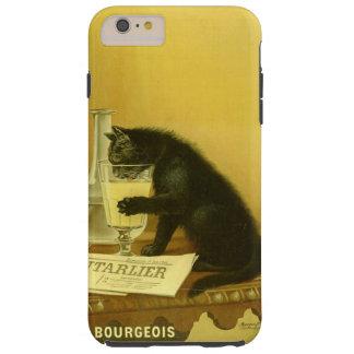 Black Cat Absinthe Bourgeois Art Nouveau Vintage Tough iPhone 6 Plus Case