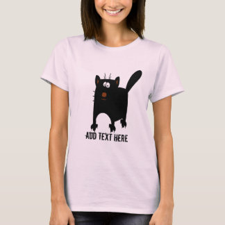 Black Cat Abstract add text T-Shirt