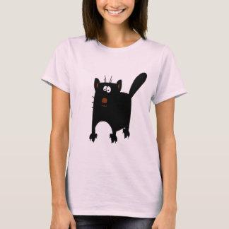 Black Cat Abstract T-Shirt