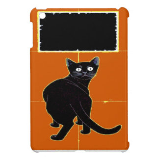 Black Cat, add text Cover For The iPad Mini