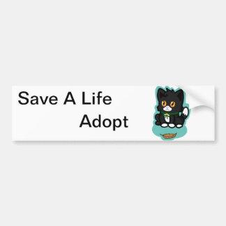Black Cat Adopt Bumper Stickers