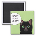 Black Cat Adopt Don't Shop Shelter Magnet