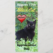 Black Cat Adoption Appreciation Day Rack Card